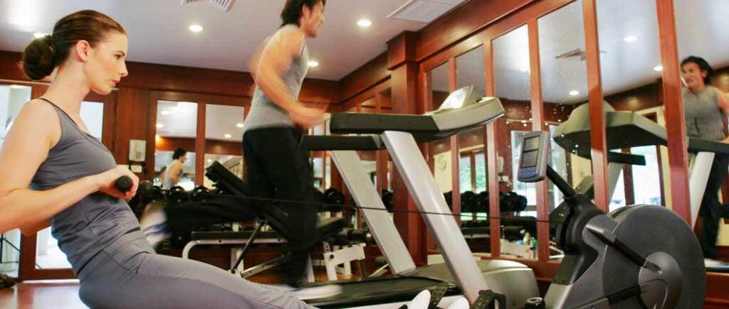 Basement Home Gym on Treadmill
