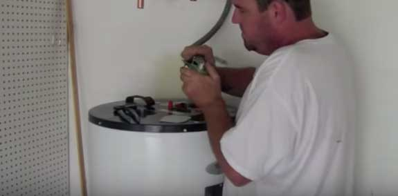 attaching the electrical to an electric water heater - Electric Water Heater Installation