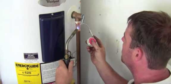 Electric Water Heater T&P Pipe Installation