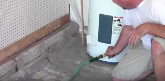 Draining a water heater