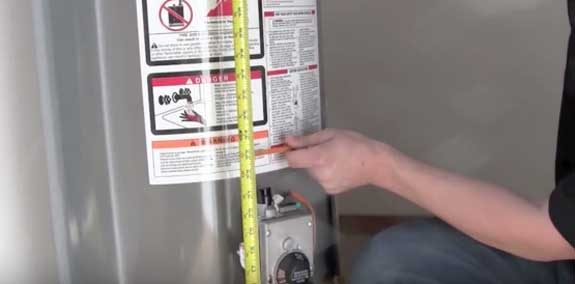 Measuring for Earthquake Straps for a Gas Water Heater Installation