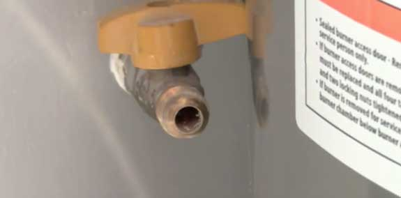 Prep the gas supply prior to connecting when installing a gas water heater