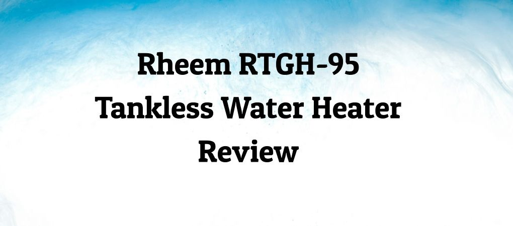 Rheem on Blue & White Background