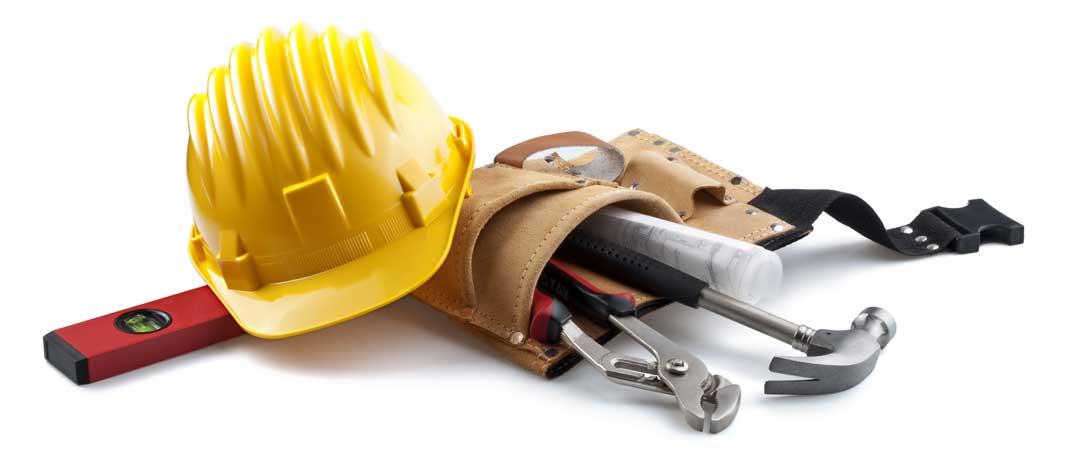 Hard hat and tool belt