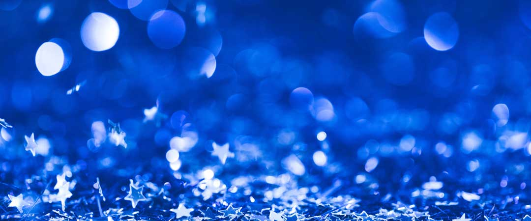 Blue Abstract with Tiny Stars