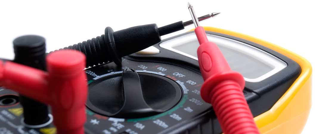 Yellow Multimeter with probes