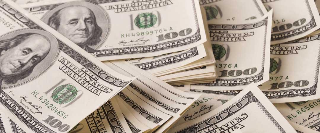 Pile of One Hundred Dollar Bills