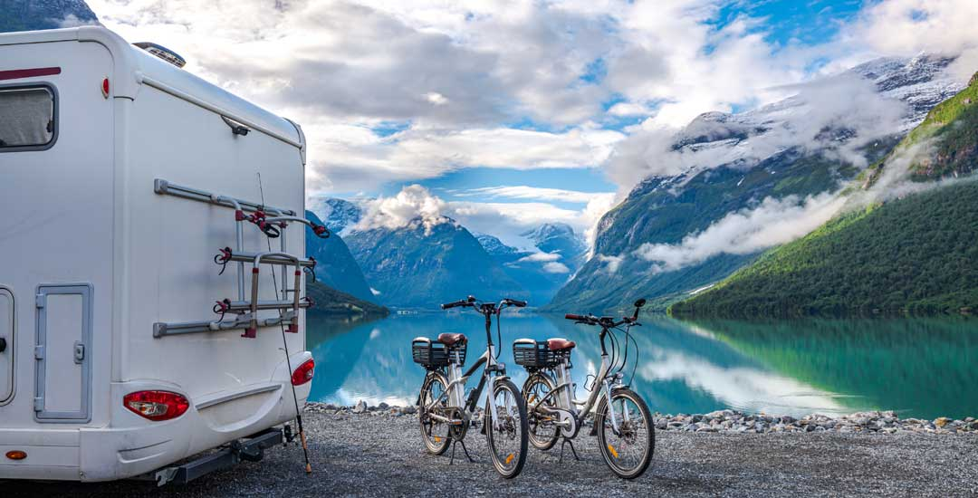 RV with two bikes