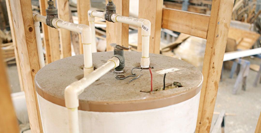 Top of water heater