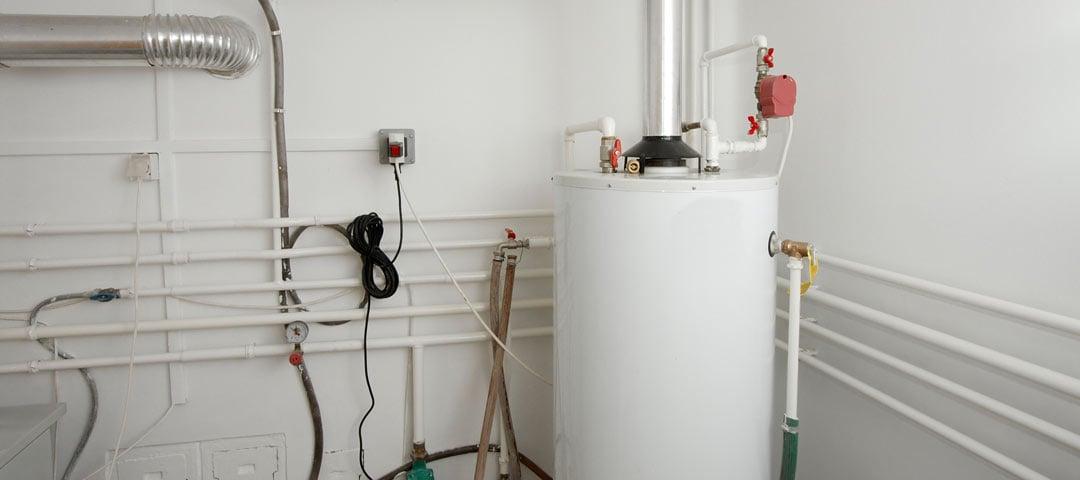 Gas Water Heater in Garage