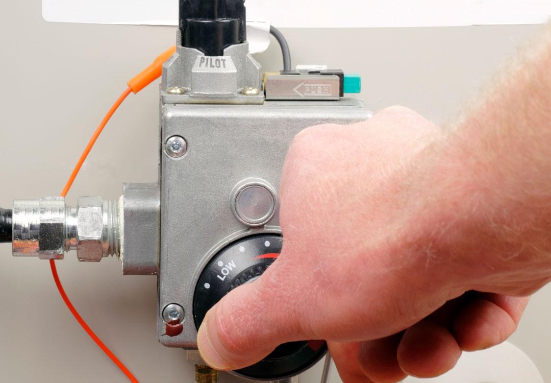 Gas water heater control valve